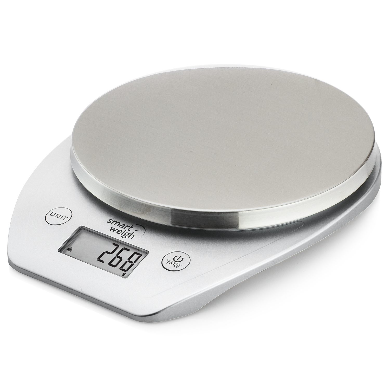 Digital Food Scale With Stainless Steel Platform Silver