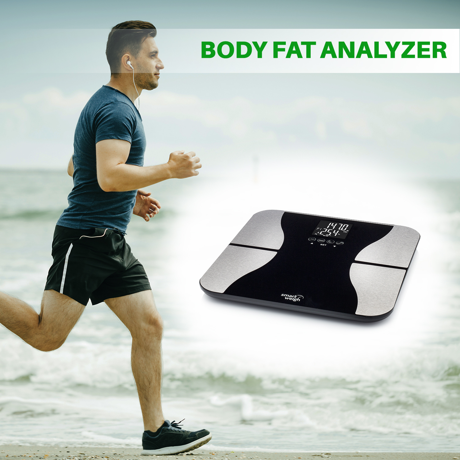Smart Weigh Digital BMI Body Fat Bathroom Scale
